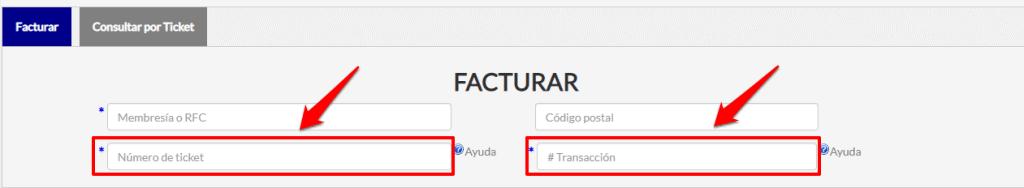 número de ticket y número de transacción Superama