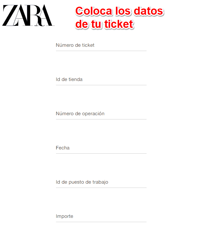 Datos para factura Zara Home